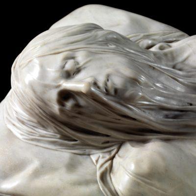 Cristo Velato - particolare del volto